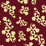 New! Gift Wrap - Scandinavian Holiday - Burgundy/Cream