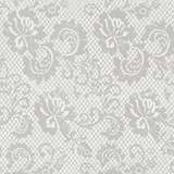 New! Gift Wrap - Lace - White/Metallic White