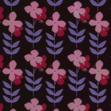 New! Gift Wrap - Flower Power - Brown/Pink/Magenta