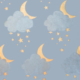 NEW! Gift Wrap - Sweet Dreams - Light Blue/Metallic Silver