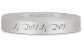"Double Faced Satin Sayings - Black ink ""I Do!"" on Bone"