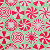 NEW! Gift Wrap - Peppermint - Mint/Red/Iridescent Glitter