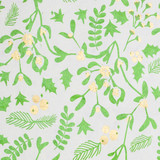 NEW! Gift Wrap - Mistletoe - Cream/Metallic Olive Green/Metallic Gold