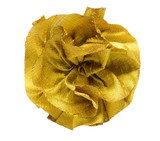 Dupioni Rose Topper - Harvest Gold