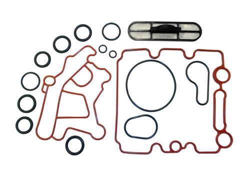 2004 - 2009 6.0L Ford Powerstroke Oil Cooler Gasket Set with Screen (ISK634)