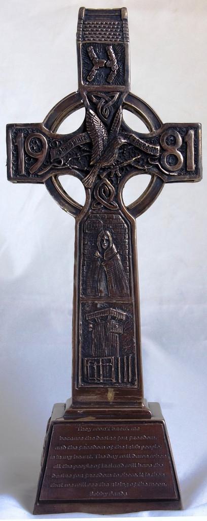 Hunger Strikes Celtic Cross (Bronzed)