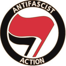 ANTIFA -Anti Fascist Action badge