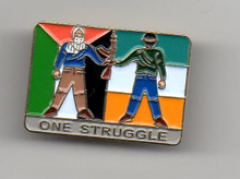 One Struggle Palestine-Ireland Pin
