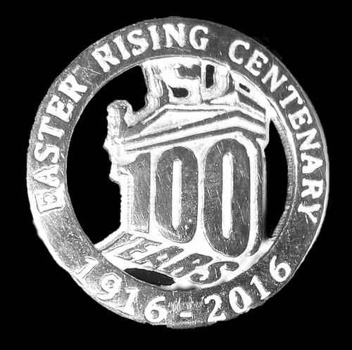 100 Years Silver Pin