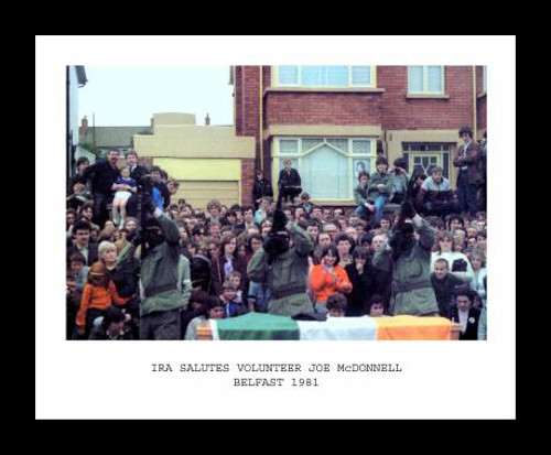 IRA Salute Vol Joe McDonnell Belfast 1981 Framed Picture