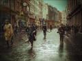 IRA Unit Patrol Grafton Street, Dublin, Ireland - 1922 .A3 Poster