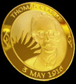 Thomas Clarke Gold Plated Coin