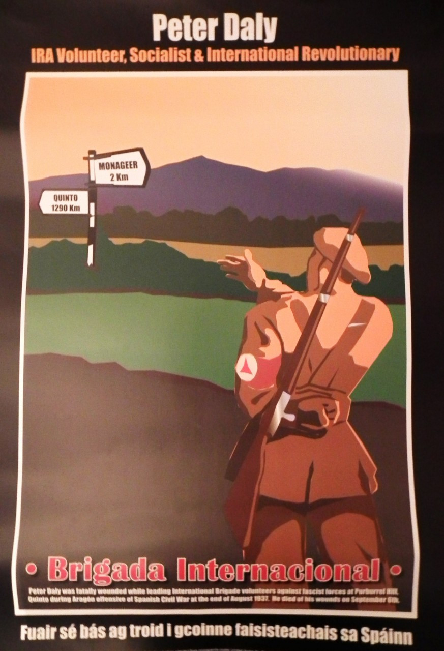 Irish Republican Army Posters Peter daly - ira volunteer