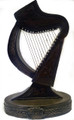 Bronzed Irish Harp