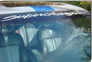 97-03 Grand Prix SUPERCHARGED TURBOCHARGED Windshield Decal