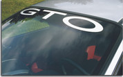GTO Windshield Banner Decal