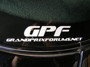 GrandPrixForums.net 7 inch small Decal