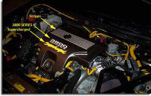 Engine Cover Overlay Decals - 04-05 Impala SS