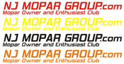 NJ Mopar Group Club Decals