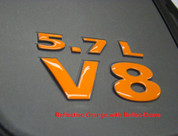 5.7L V8 Engine Cover Letter Overlays - 08-12 Challenger