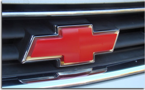 Front Bowtie Emblem Overlay Decal - 06-13 Impala