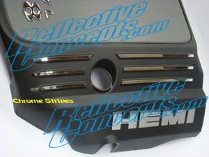 Engine Cover STRIPE Decals - 06+ Charger 5.7L
