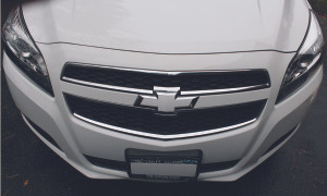 2013 2014 Malibu Front Bowtie Emblem Overlay Decal - Gloss White