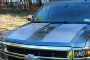 2014 Silverado Side Hood Stripes - Silver