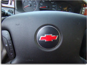 Steering Wheel Bowtie Overlay Decal - 06+ Impala