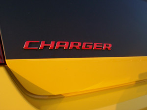 2006-2014 Charger Emblem Overlay - Reflective Red