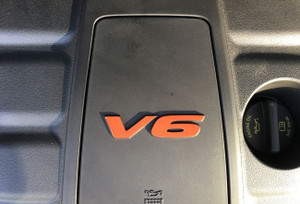 V6 Engine Cover Decal - Red