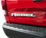 REBEL Tailgate Emblem Inlay Decal   - 2015-2018 Ram Rebel