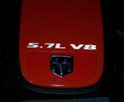 5.7L V8 Engine Cover Letter Overlays - Reflective Black - 06-08 Charger