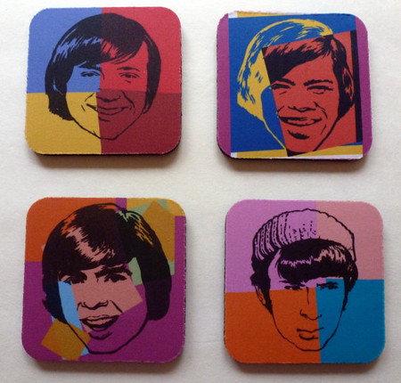 Monkees Coasters Set Of Four Ships Free W Lp Order