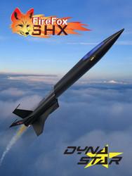 Dynastar Flying Model Rocket Kit FireFox SHX  DYN 5036