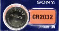 Battery Sony Lithium 3V Button CR2032 1pk *