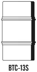 Semroc Balsa Tube Coupler #13 Ribbed   SEM-BTC-13S *