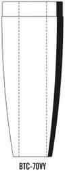 "Semroc Balsa Tail Cone BT-70 5.0"" Ogive 24mm   SEM-BTC-70VY *"
