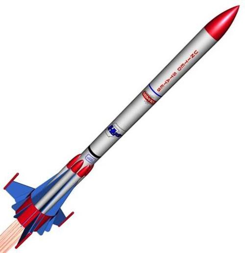 Semroc Flying Model Rocket Kit Hydra VII KV-