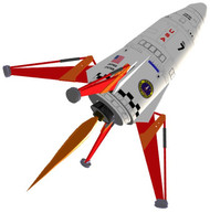 Semroc Flying Model Rocket Kit Mars Lander™ KV-54
