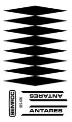 Semroc Decal - Antares™   SEM-DES-K76 *