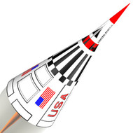 Semroc Flying Model Rocket Kit Point  KV-58