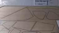 Semroc Laser-Cut Fins Condor™ (Sheet A 2/32 Balsa Sheet B 1/16 balsa )   SEM-FES-0807 *