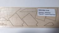 Semroc Laser-Cut Fins Colonial Viper™  3/32 Balsa  Shet SEM-FES-1310 *