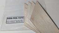 Semroc Laser-Cut Fins Der V-3™  (4 fins) 1/16 Balsa   SEM-FES-1970 *