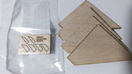 Semroc Laser-Cut Fins Honest John  (Set of 2)  Sheet A 3/32 Balsa  Sheet B 1/16  Balsa  SEM-FES-K27 *