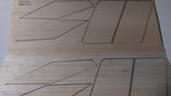 Semroc Laser-Cut Fins Apogee II™  (Set of 2)  1/16 Balsa  SEM-FES-K5 *