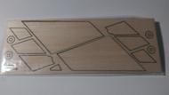 Semroc Laser-Cut Fins Commuter™   1/16 Balsa SEM-FES-P031 *