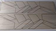 Semroc Laser-Cut Fins Centaur™  (8 fins, 16pcs)  3/32 balsa  SEM-FV-12 *
