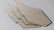 Semroc Laser-Cut Fins Aphelion™   3/32 Balsa SEM-FV-26 *